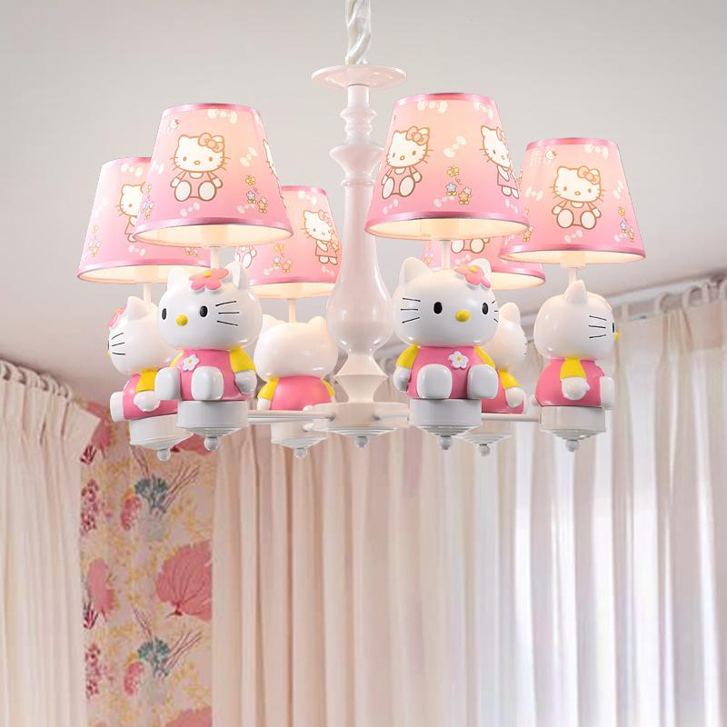 Acheter Bonjour Kitty Led Lustre Pendentif Lampes Moderne Lumière Enfants  Chambre Suspension Hanglamps Lampe Éclairage De La Chambre Des Enfants De  $195.28 ...