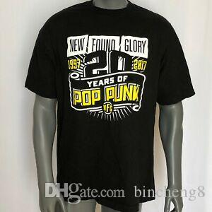 New Found Glory Band Graphic TShirt BlaShirt Mens Tamanho XL