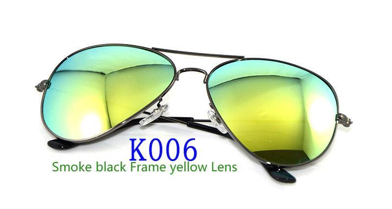 High Quality Glass Lens Sunglasses Color lens Mirror sunglasses pilot men Sun glasses Brand Designer Woman glasses with cases and boxs