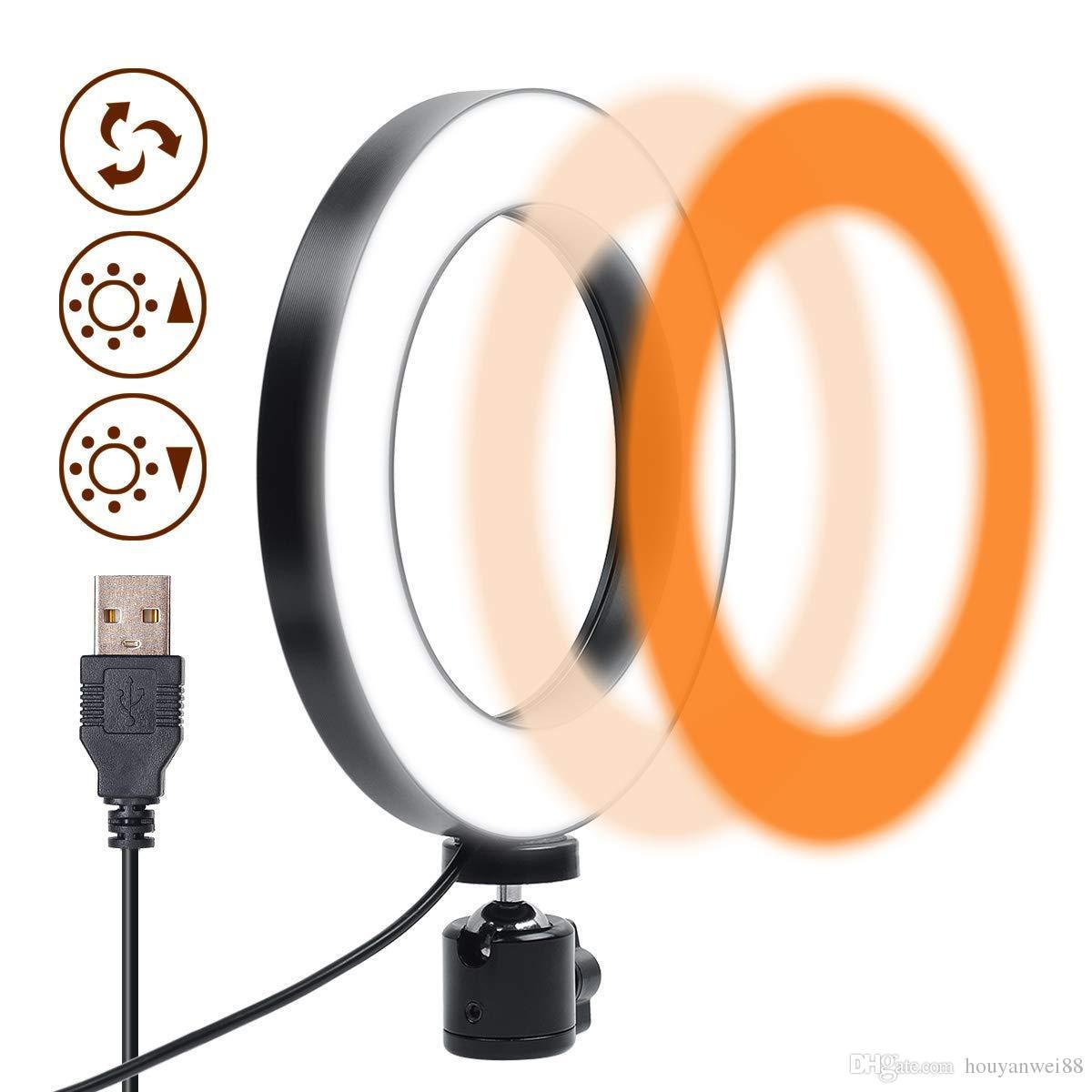 LumièresRotation Lampe Réglable Annulaire À LedIntensité Usb 360 DegrésLumière Plastique De Mode Rajeunissement Avec En 3 Douce eQCdxBWro