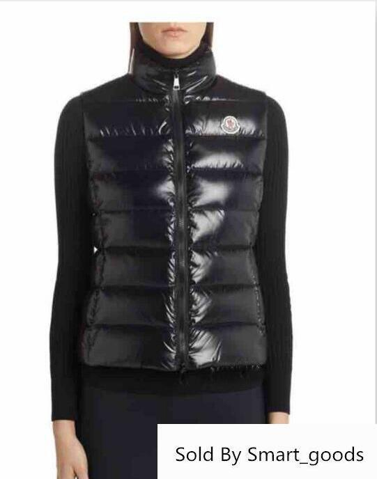 Sale Fashion M Brand Winter Down Vest Women Coat Slim Vests Female Sleeveless Jacket Real Down