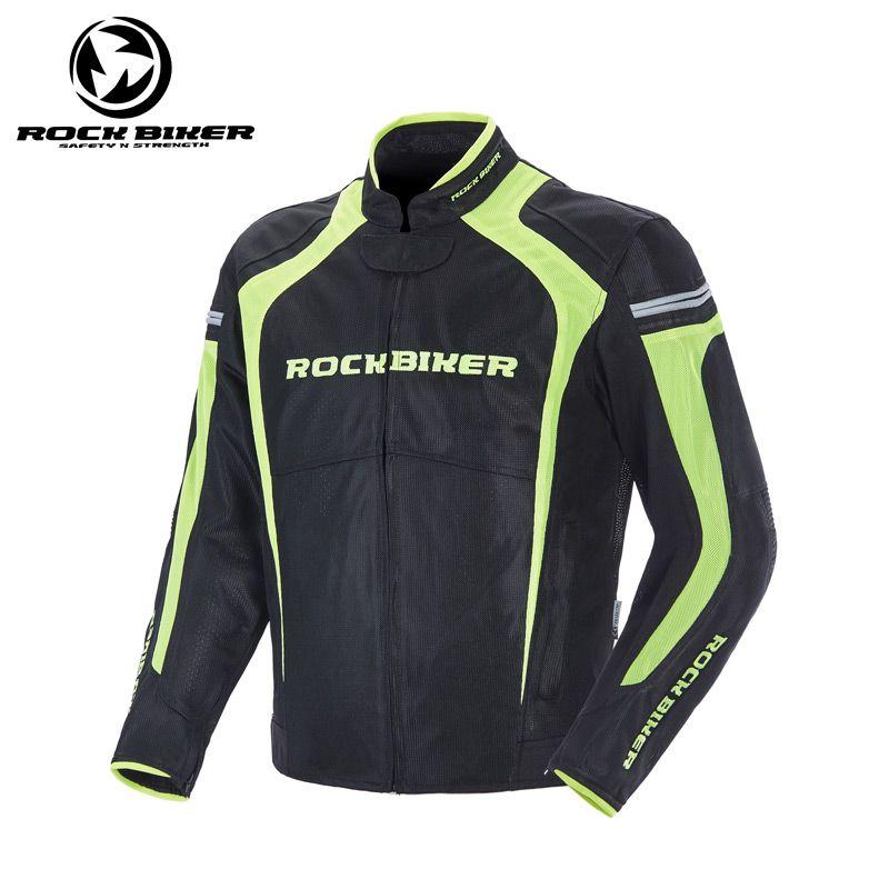 2018 New Rock Biker Polyester Breathable Mesh Motorcycle Jacket Men