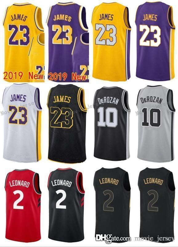timeless design 9b9e7 2ca6f 2 Leonard 10 Demar Kawhi DeRozan Toronto San 2Antonio Jersey Spurs Raptors  2018 New LeBron Los Angeles 23 James Hot 2018 2019 Jerseys