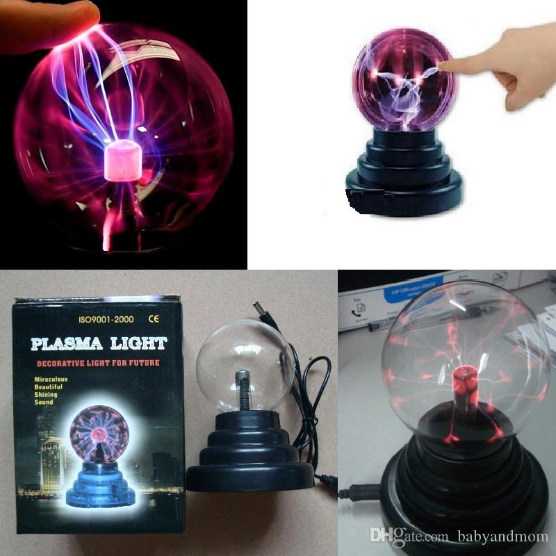 Magic Crystal Plasma Light Ball Electrostatic Induction Balls 3 inch 5W LED Lights USB Power & 2A Battery Party Decoration Children Gift