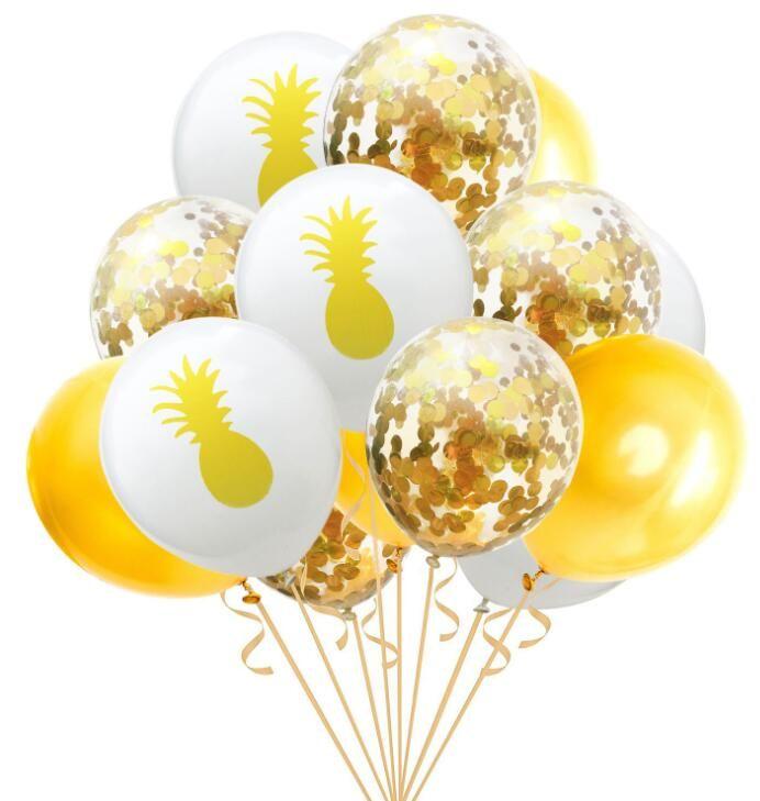 Quneya 2019 Happy New Year Balloon Confetti Christmas Balloons Set