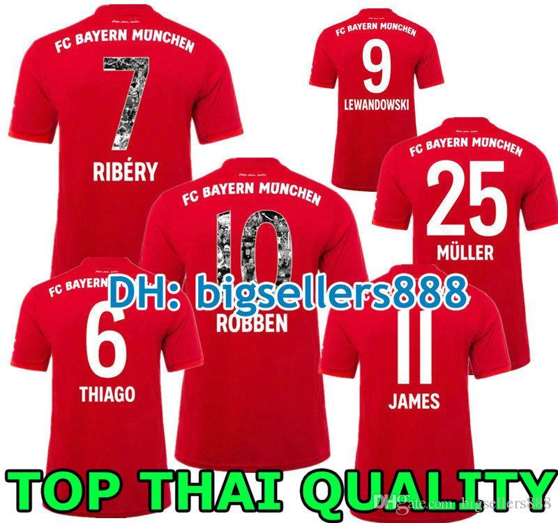reputable site 1a6b5 10b0d Bayern Munich JAMES RODRIGUEZ Soccer jersey 2018 2019 2020 LEWANDOWSKI  MULLER KIMMICH jersey Top Thailand 18 19 20 HUMMELS Football shirt