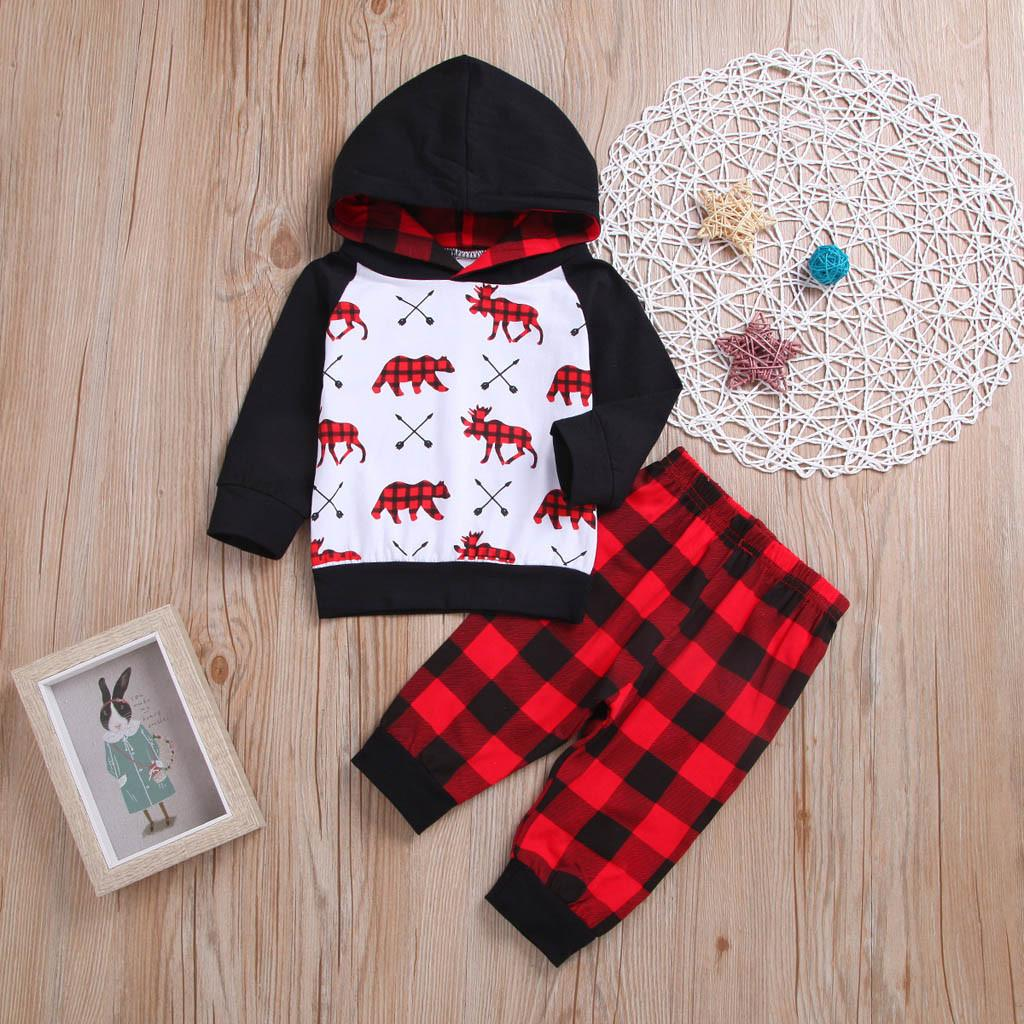 ad47556d961d Children Cloth Toddler Baby Boys Girls Cartoon Hooded Pullover Top ...