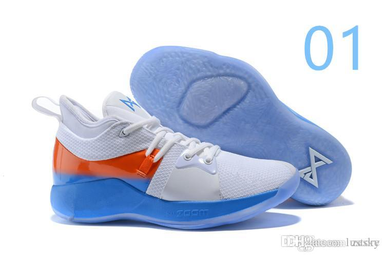 9322ea62f8a4 Cheap New Sale Paul George 2 PG II Basketball Shoes Top PG2 2S Starry Blue  Orange All White Black Sports Sneakers Size 40-46 Zesky
