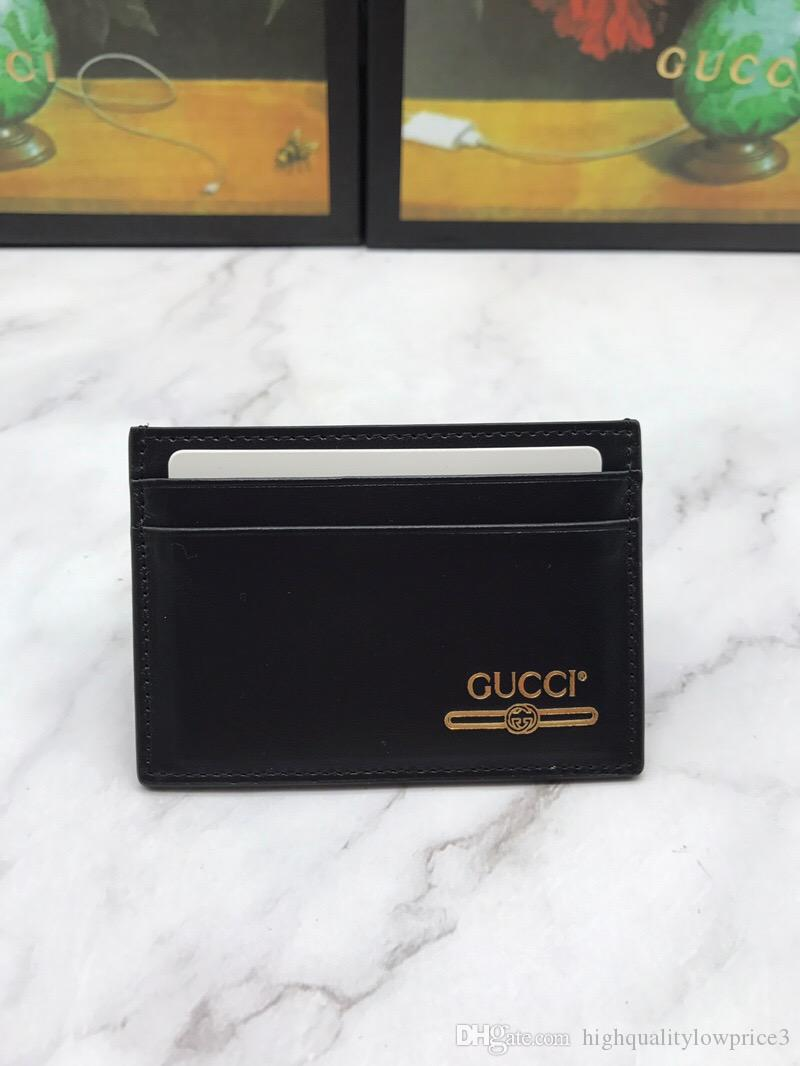 7ce48c0adfb7 Classic Ltter Black Men Wallet with Box Genuine Leather Small Purses Women Card  Holder 547596 Online with $59.89/Piece on Highqualitylowprice3's Store ...
