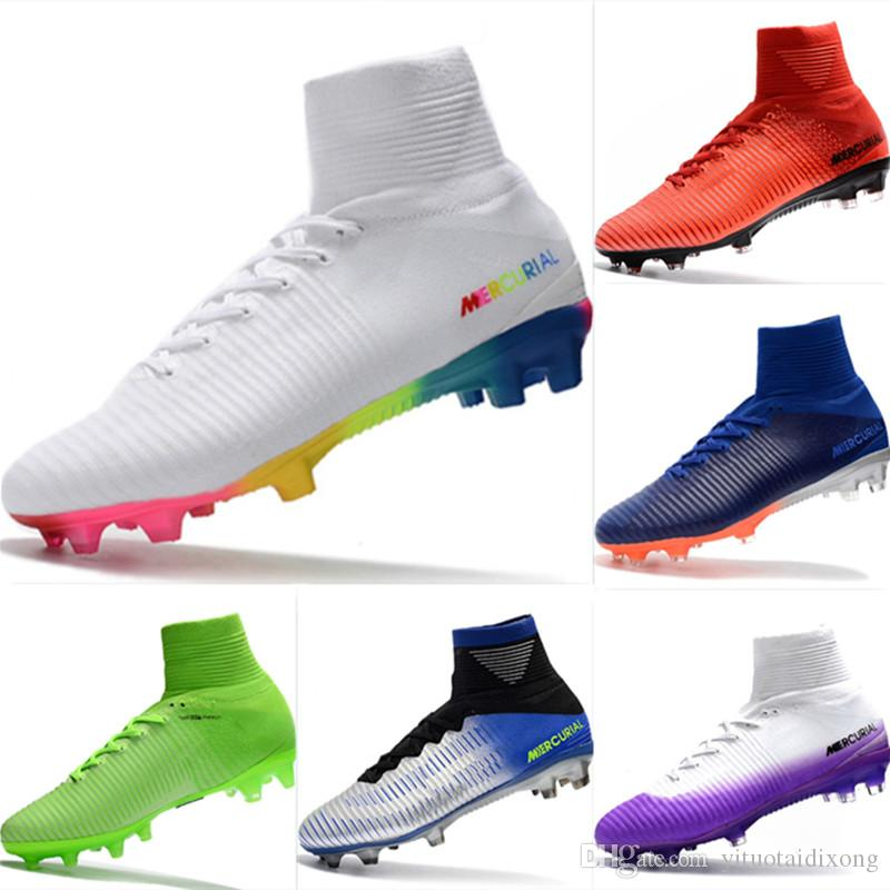 With Box 2019 Mercurial CR7 Superfly FG Kids Football Boots Magista Obra 2 Youth Soccer Cleats Cristiano Ronaldo