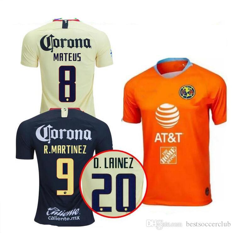 47ab3370152 2019 2018 2019 MEXICO Club America Soccer Jersey Home Away Third 18 19 LIGA  MX Mateus R .Martínez D.LAINEZ P. Aguilar O. Peralta Football Shirts From  ...