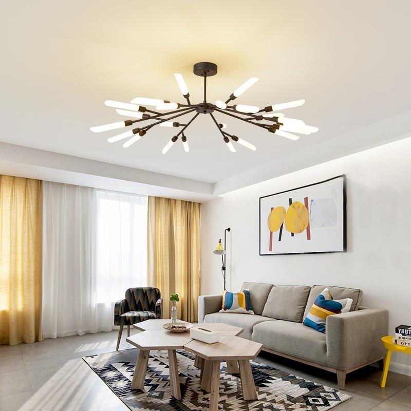 Lights & Lighting Postmodern Chandeliers Ceiling Nordic Luminaires Deco Lighting Glass Fixtures Living Room Hanging Lights Bedroom Pendant Lamps Chandeliers