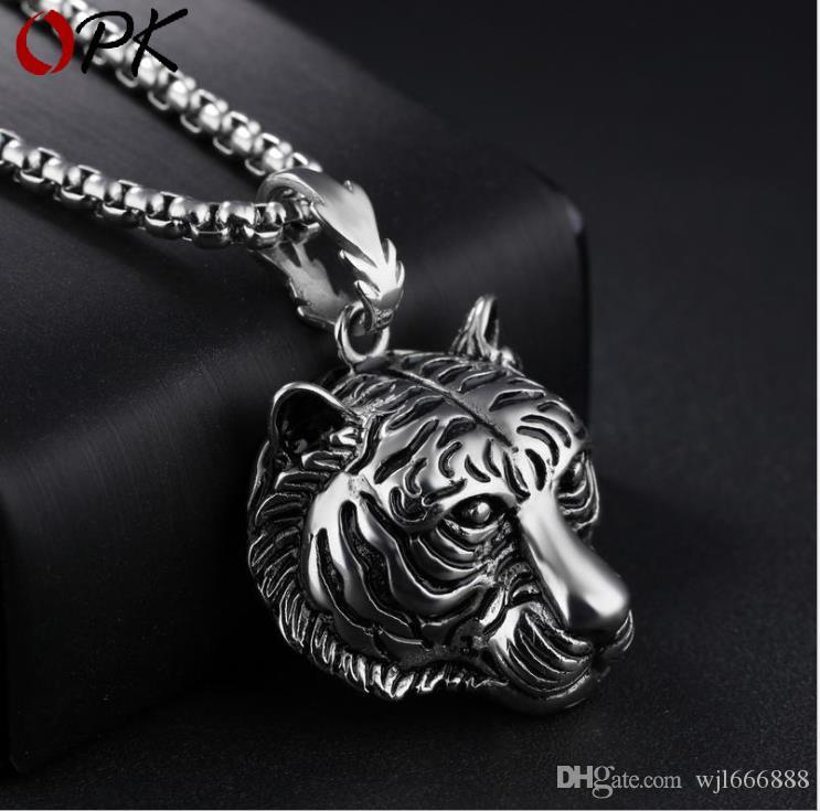 Fashion Vintage Necklace Domineering Pendant Titanium Steel Influx Personality Pendant