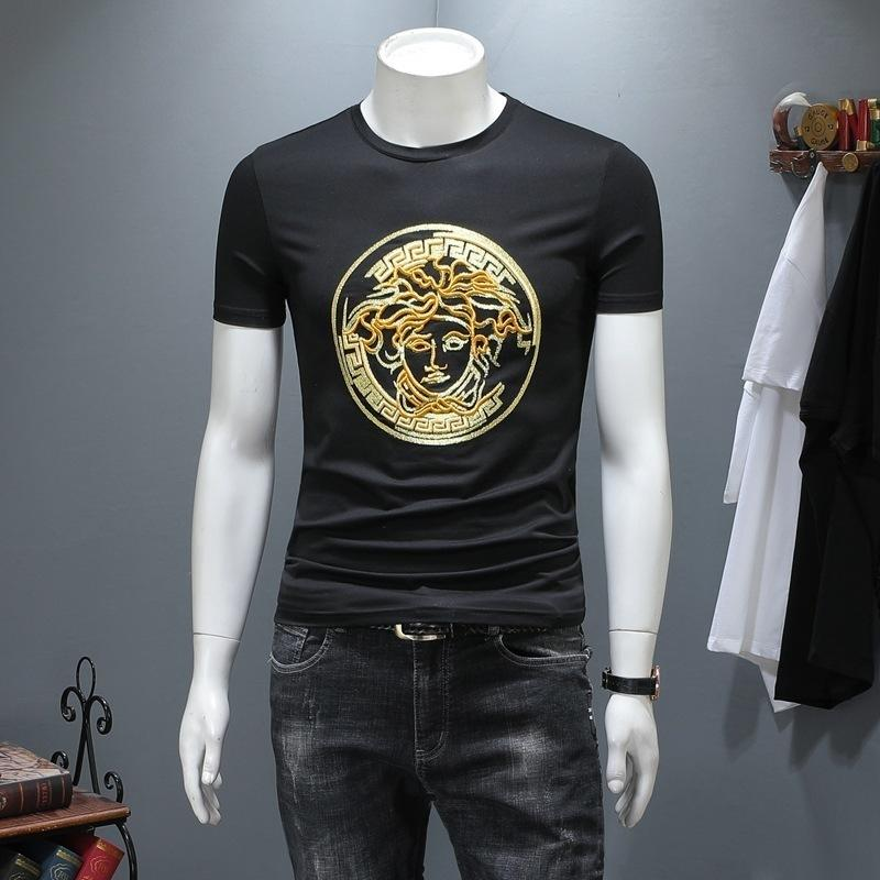 3dbfc024d50 Europe Station Men S Wear 2019 Summer Man New Pattern Beautiful Tussas Hot  Stamping T Shirts Short Sleeve T Korean Version Slim Shirt309  T Shirts  Funky Tee ...