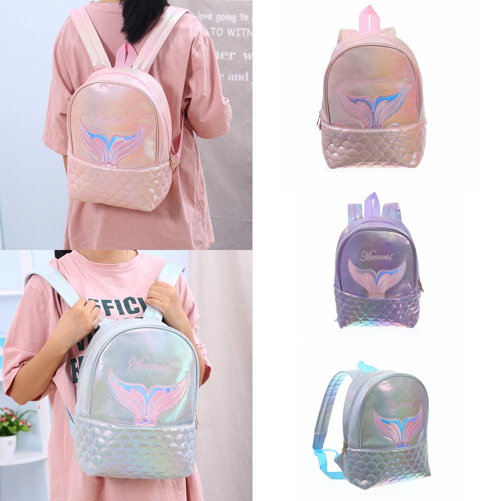3styles Mermaid Backpack fish tail scale Girls women travel organizer For Teenager Student Book Bag Satchel school bag FFA2369