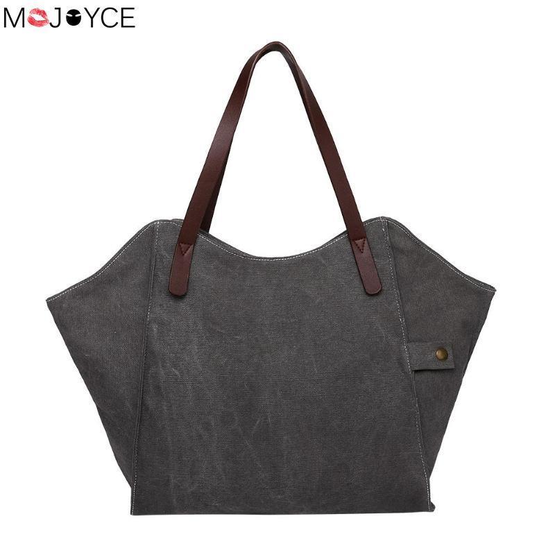 Casual Large Capacity Totes For Women Canvas Ladies Wild Shoulder Bag  Simple Light Shopping Bags Fashion Handbag Bolsa Feminina Designer Handbags  School ... 593b04cb94208