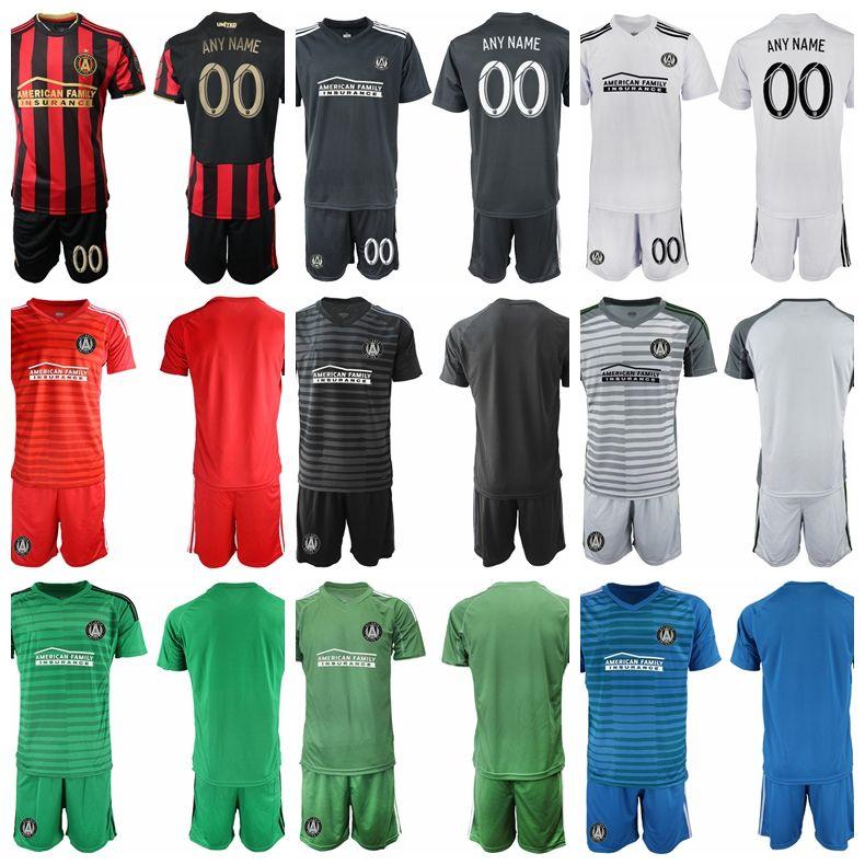 finest selection a4d42 8c825 MLS FC Atlanta United Goalkeeper Soocer 1 Brad Guzan Jersey Set Men 13  Brendan Moore 25 Alec Kann Football Shirt Kits Uniform