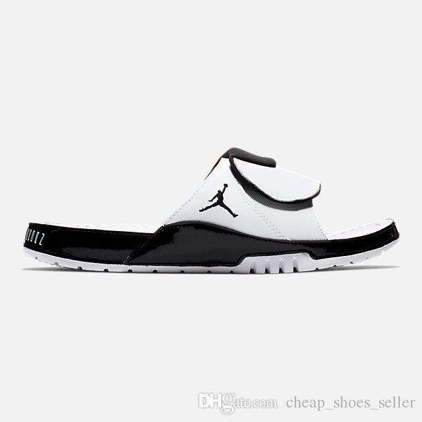 reputable site a5d41 e501f Jumpman Concord 45 11 designer sandals Mens 2 13s slides HYDRO Summer Flat  Basketball Shoes White black RETRO mens Beach Slipper Flip Flop