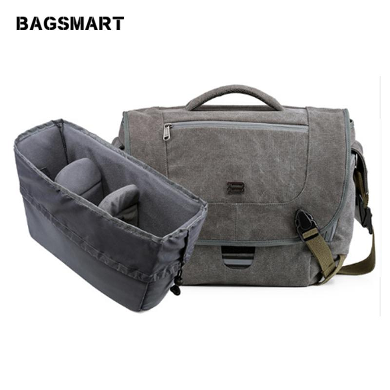 cb9cc11b9efc49 BAGSMART Water Resistant Vintage Camera Shoulder Bag Canvas Messenger Bag  Canon Nikon DSLR Camera Bags To Travel Casual Satchel Hobo Bags Designer  Bags From ...