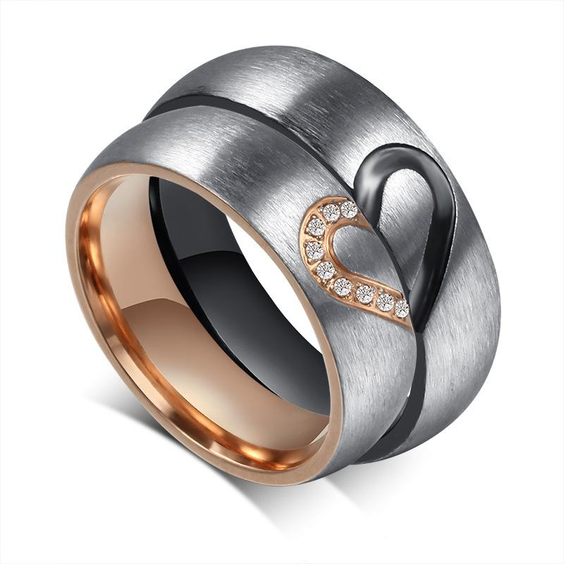 His And Hers Wedding Ring Sets.Zhf Jewelry 1pair His Hers Love Heart Wedding Promise Rings Set Stainless Steel Couples Engagement Bands For Men And Woman