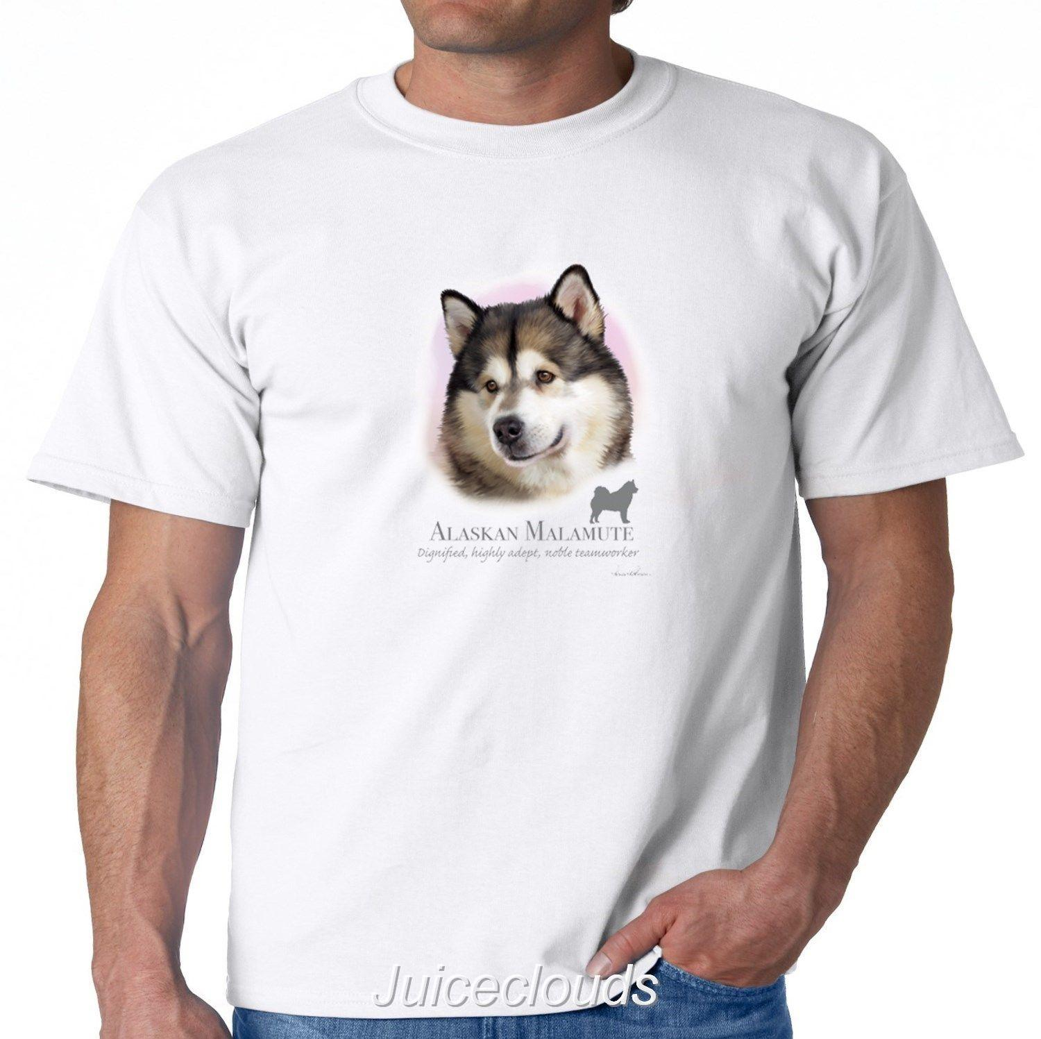 9c509cffc Alaskan Malamute T Shirt Puppy Pet Rescue Dog Owner Men'S Tee Print Fitness T  Shirt Men Classic Casual T Shirt Summer T Shirt Tops 10 T Shirt Awesome T  ...