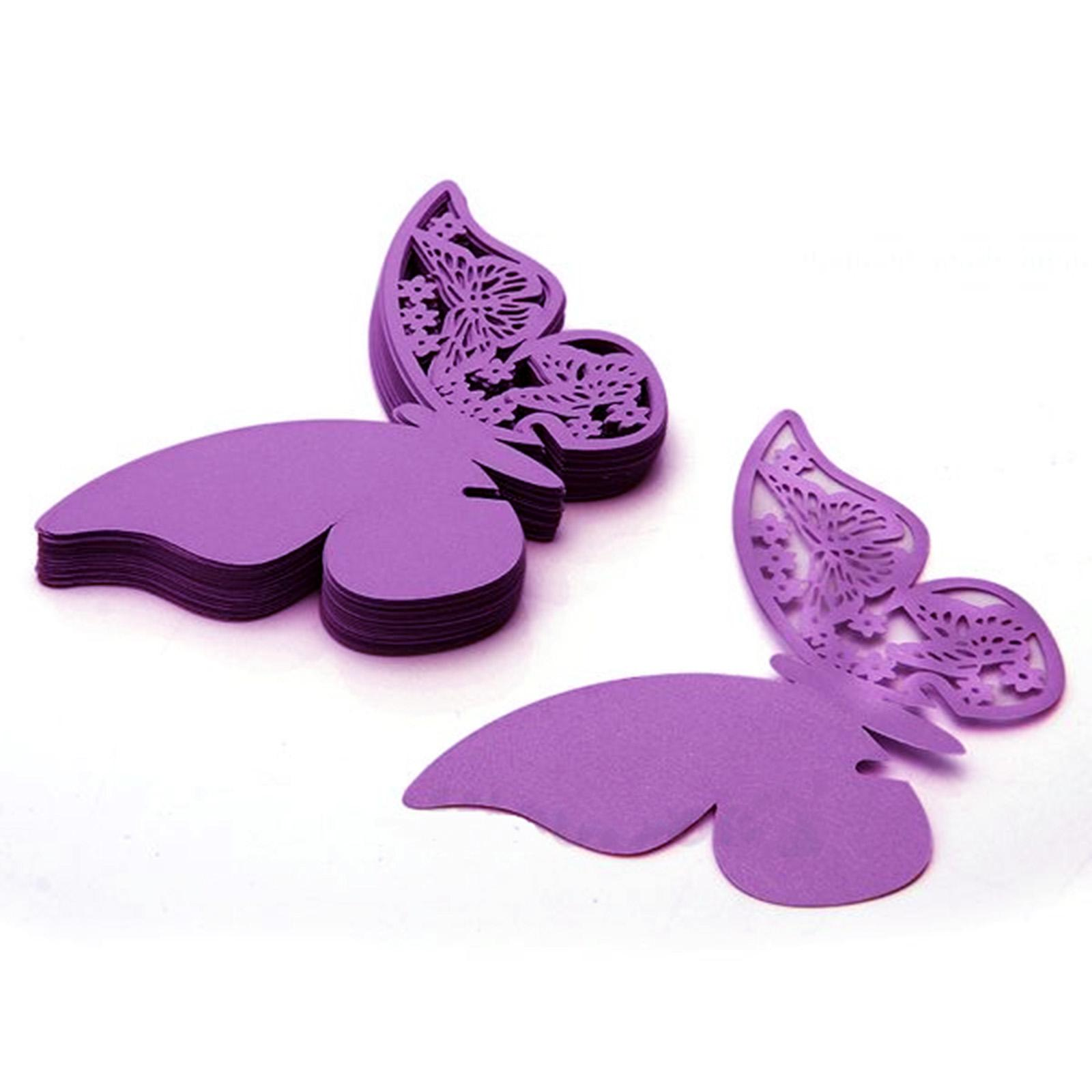 Butterfly Laser Cut Paper Place Card / Escort Card / Cup Card/ Wine Glass Card For Wedding Party Decoration 40