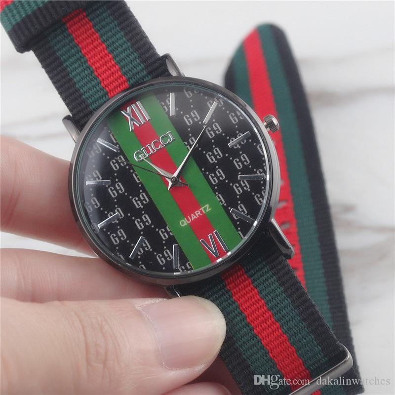 5589f428fac Compre Novo Homem Moda Colorido Nylon Relógios De Pulso De Luxo Da Marca  Sports Militar Masculino Relógio 40 MM Orologio Casual Relógio Masculino  Com Caixa ...