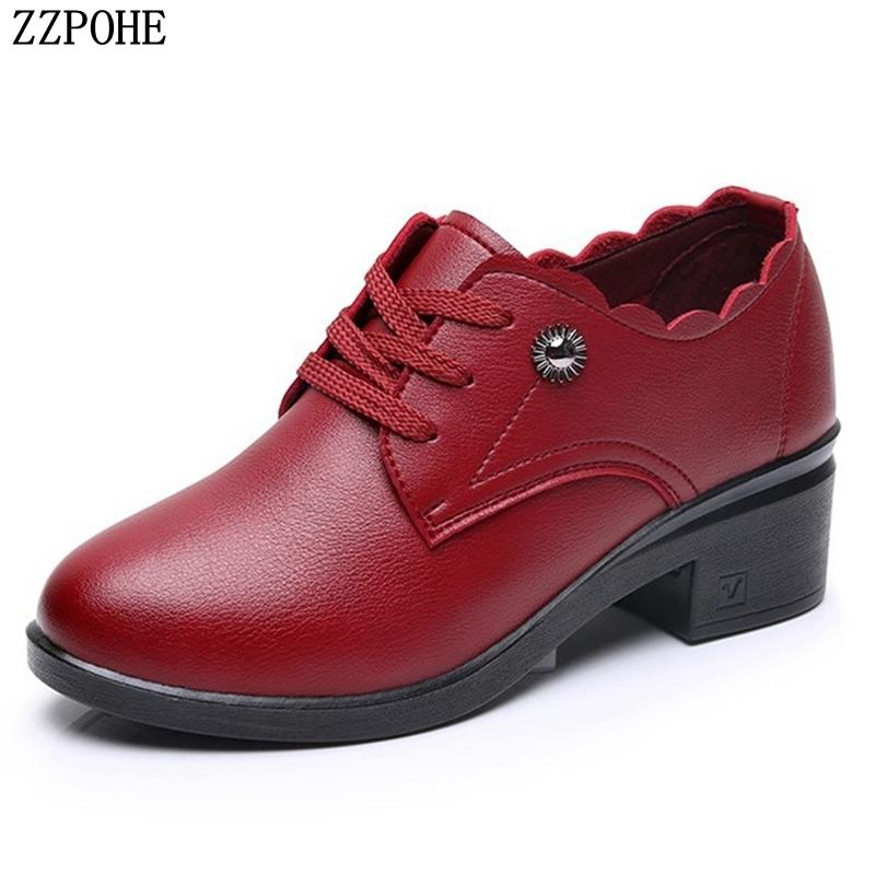 f25120a3b Compre Zapatos De Vestir De Diseñador ZZPOHE Bombas Para Mujer Otoño Nueva  Moda Con Tacones Altos Mujer Cuero Con Cordones Cómoda Boda Causal A  21.39  Del ...