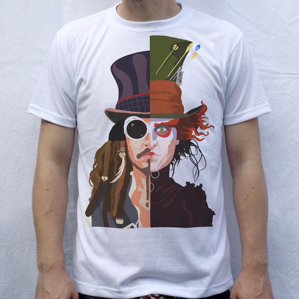 Großhandel Johnny Depp T Shirt Willy Wonka Verrückter Hutmacher