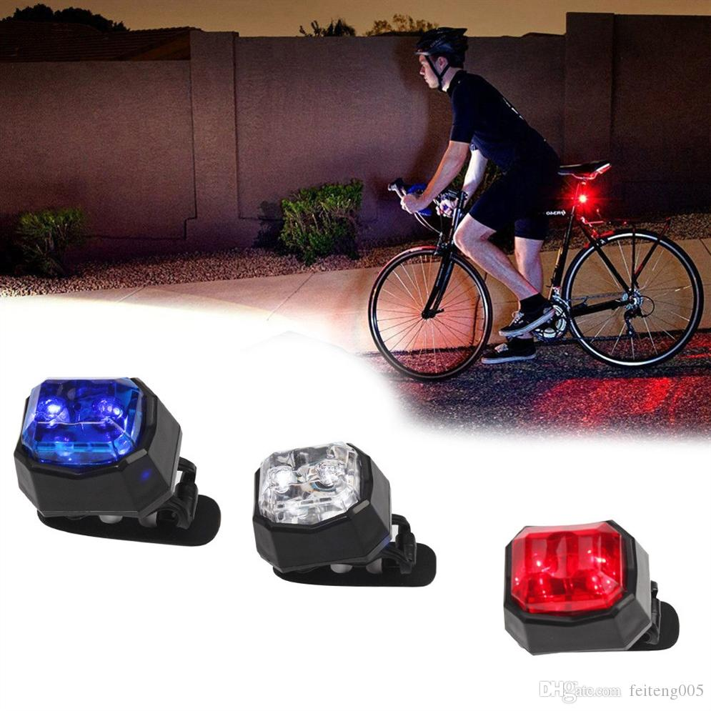 4x Silicone 2-led Head Rear Light Safety Warning Bicycle Night Tail Light Set US