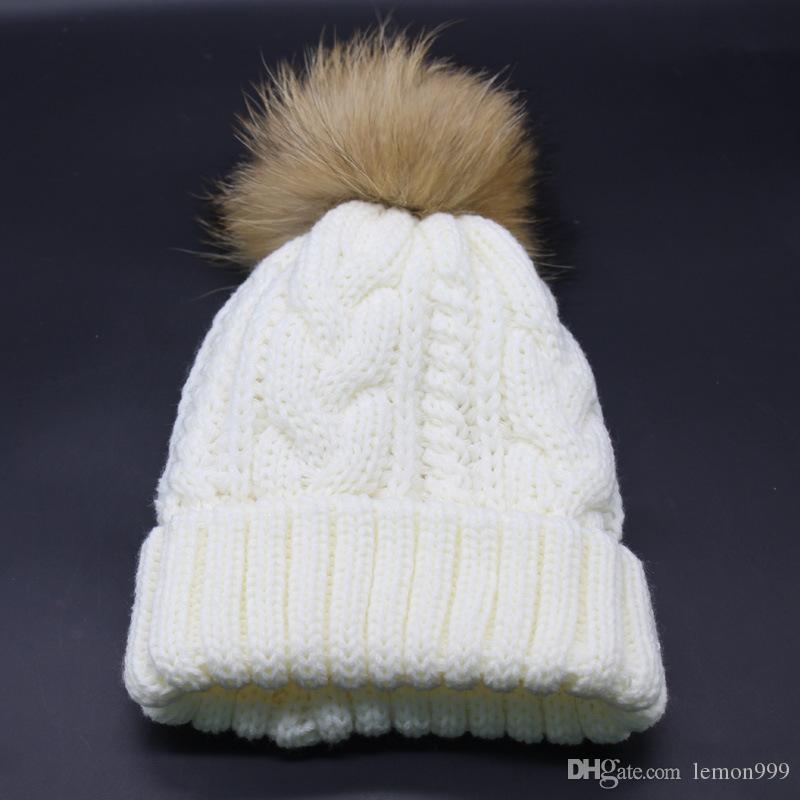 7ca23e7f Woman Winter Hat Beanie Girls Knitted Caps Skull Warm Ski Hat Soft Thick  Female Beanies Snow Caps Real Fur Pom Pom Ball Hats Knit Hats Cheap Hats  From ...