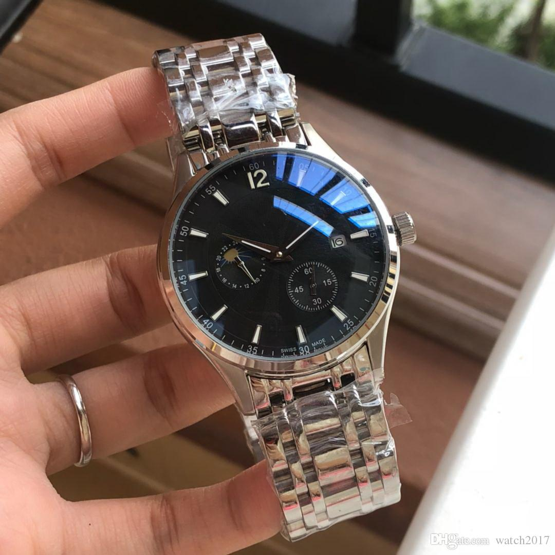 2019 Gift Date Man Very Nice Cheap Silver 40mm Bezel Fashion Aaa Men Watch Wholesale Luxury Brand New Stainless Steel Mens Watches