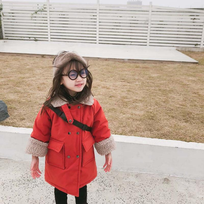 8854c0a72940 DFXD New Girls Clothes Winter Warm Outwear Fashion Baby Long Double ...