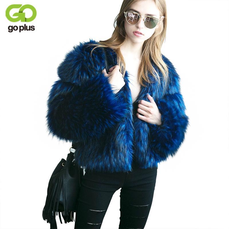 innovative design a4457 ed194 GOPLUS Nero Blu Donna Faux Cappotto in pelliccia Plus Size manica lunga  Furry Coat 2018 Donna Breve giacca in pelliccia Winter Outwear C4445