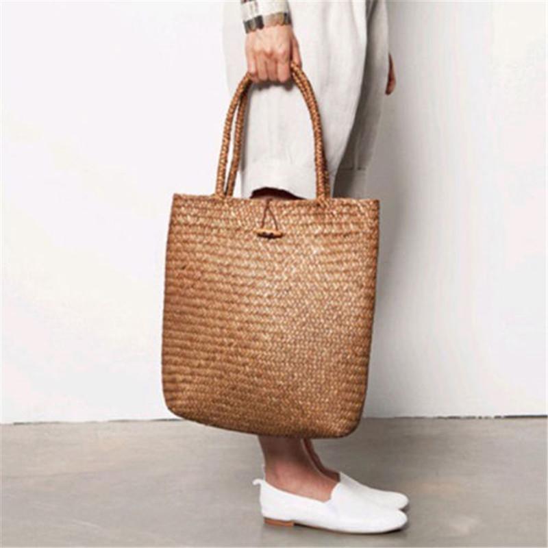 8e2d75b27f9 2018 UK Fashion Womens Summer Straw Large Tote Bag Crossbody Beach Shoulder  Bag Handbag Casual message storage bag