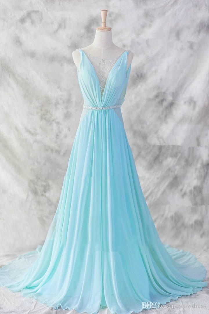 Strapless A-line Long Chiffon Prom Dress Beaded Floor Length Women Evening Dress Wholesales Cheap