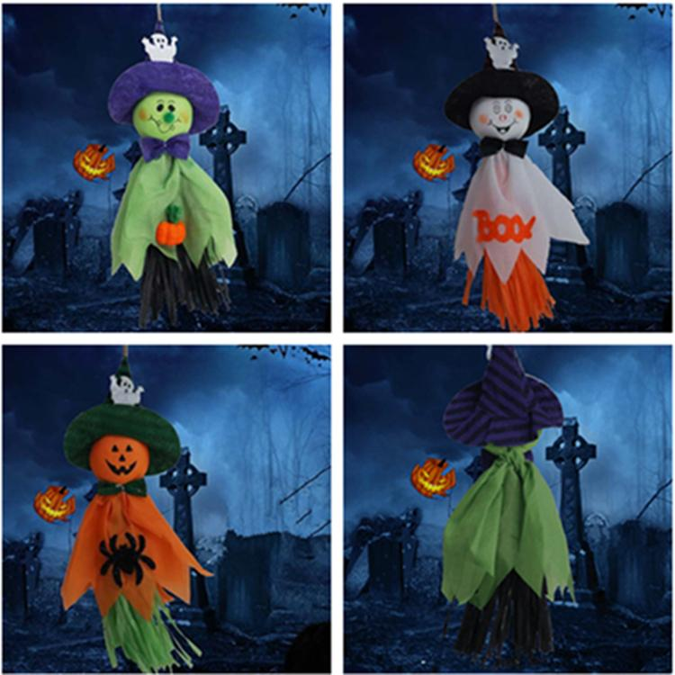 New style Halloween decorative props haunted house Pumpkin specter Decoration Ghost Festival party specter pendant T9I00102