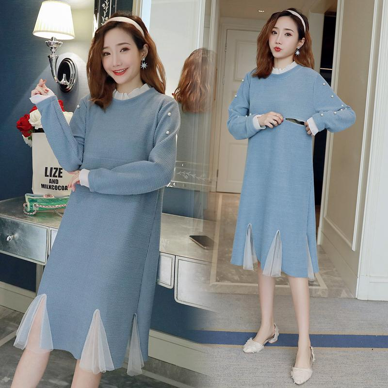 1c3e787c775fe 2019 2019 Spring Autumn Nursing Dress Breastfeeding Maternity Clothes For  Pregnant Woman Cotton Solid Lactation Knee Length Dress From Benedicty, ...