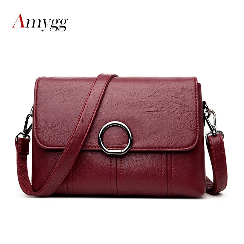 4808d3cca1 AMYGG Brand High Quality Women Crossbody Bags Female Totes Handbags Women  Bag Handbags Solid Leather Messenger Shoulder Bag Leather Satchel Ladies  Bags From ...