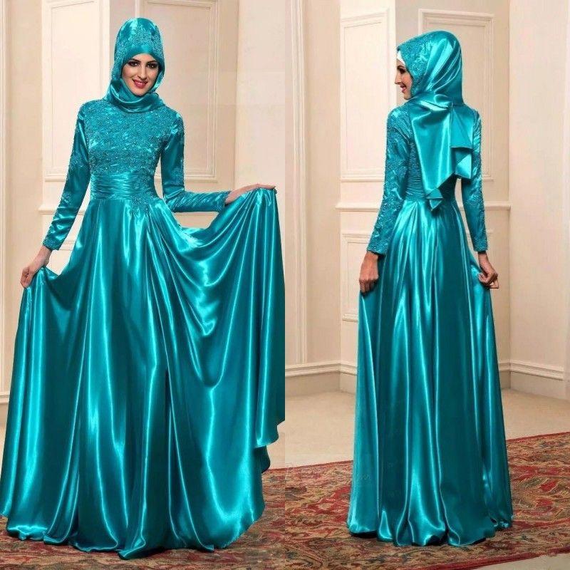 Vestidos de fiesta en azul turquesa