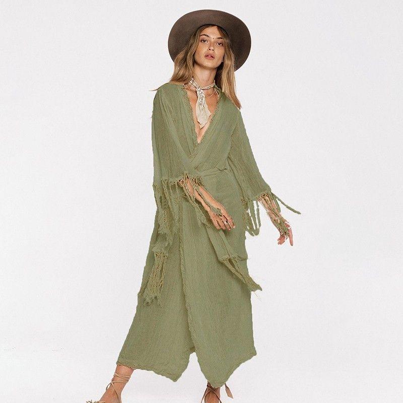 d0978421cba8 Jrnnorv Hot Summer Casual Solid Women'S V Neck Dress Sleeveless White Dress  Floor Length New Design Pus Size S XL BA1090 Summer Dresses Maxi Dress From  ...