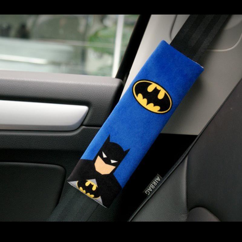nterior Accessories Seat Belts Padding 1 Pair Cartoon Car Sefety Seat Belt  Cover Batman Superman Auto Seatbelt Shoulder Protection Paddin