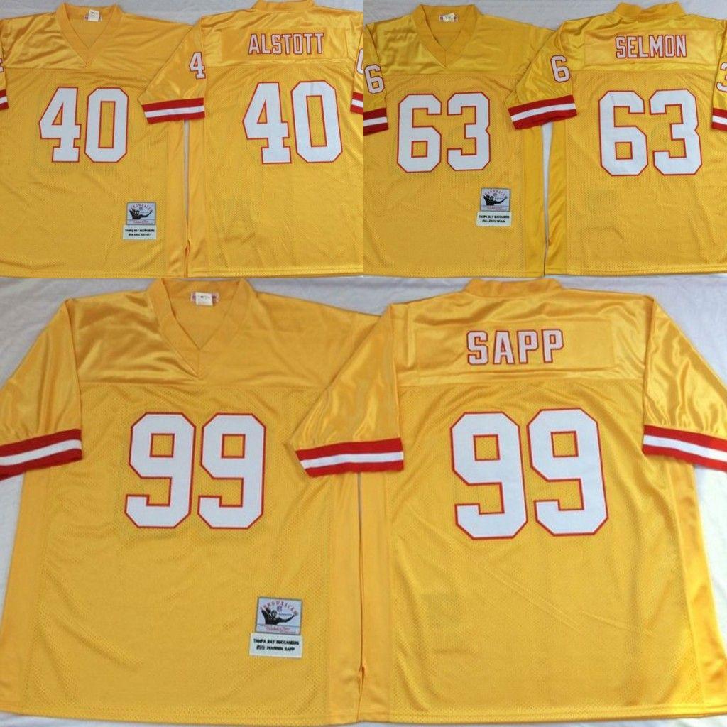 pretty nice 73160 36381 Vintage Tampa Bay Sapp Buccaneers 63 Lee Roy Selmon 40 Mike Alstott 99  Warren Sapp 56 Hardy Nickerson Stitched Football Jerseys