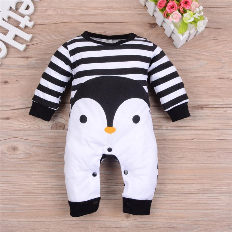 5c5a6c1d45d 2019 Baby Romper Newborn Baby Costume Infant Boys Girls Long Sleeve Striped  Cartoon Printed Jumpsuit Romper Clothes Baby Clothes D25 From Yosicil01