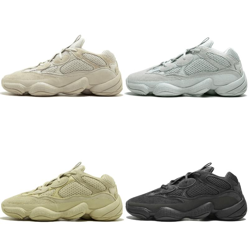 f5d4564ae Hot Kanye West 500 Desert Rat Blush 500s Salt Super Moon Yellow 3M Utility  Black Mens Running Shoes for Men Women Sports Sneakers Trainers Online with  ...