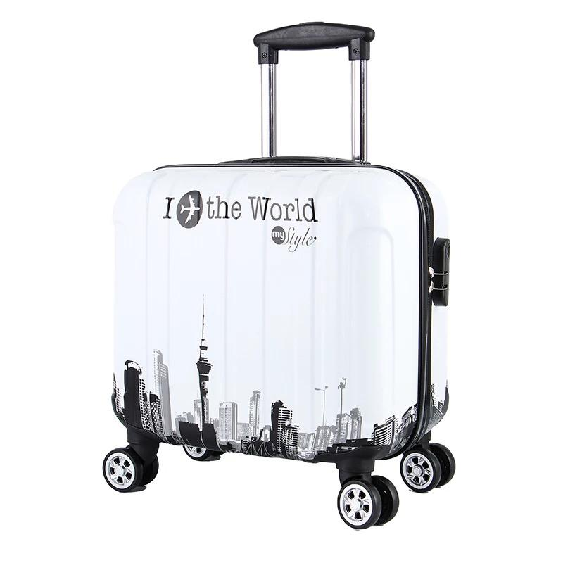 8da10e72e18c 18 Inch Travel Trolley Suitcase for Women Men Trolley Travel Bags Spinner  Wheels Student Rolling Luggage Boarding Luggage Suitcases Cheap Suitcases  18 Inch ...