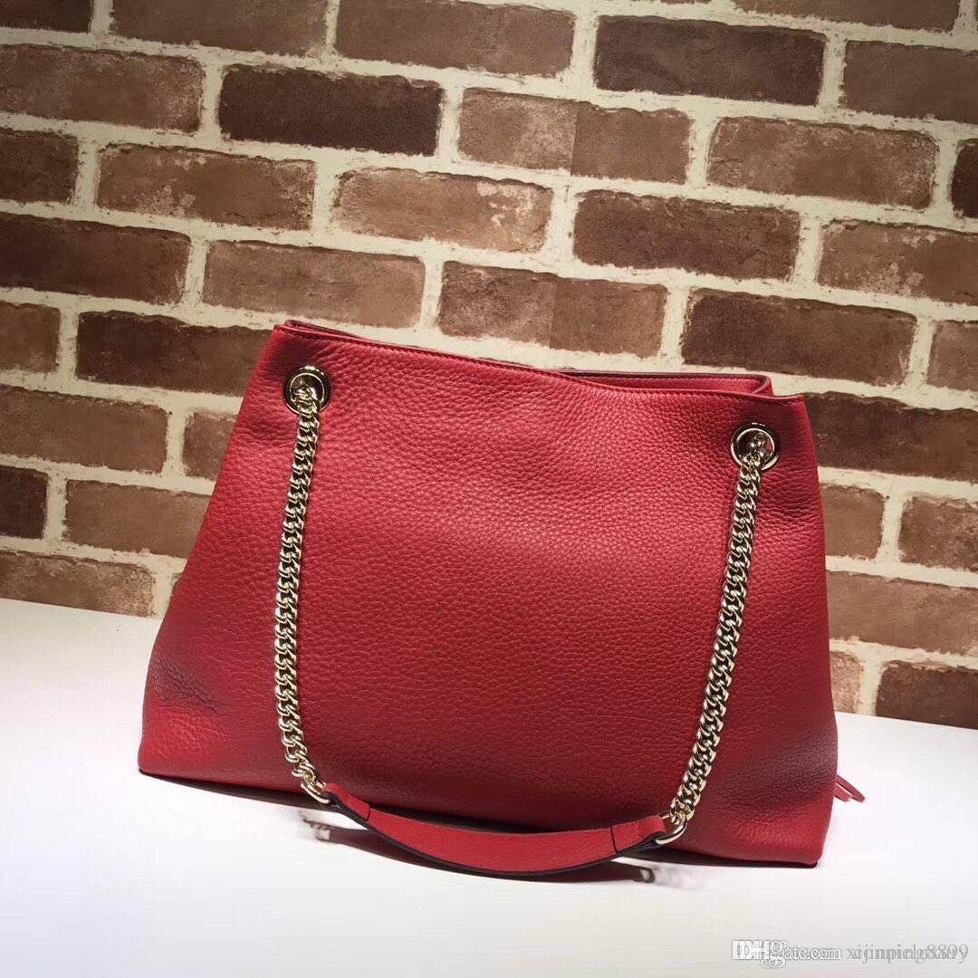 Best Quality Designer Women Hobos Genuine Leather Cowhide Handbags Fashion  Tassel Soho Shoulder Bag With Chain Female Purse Handbag 308982 Red Handbags  ... 2e3c622008b9e