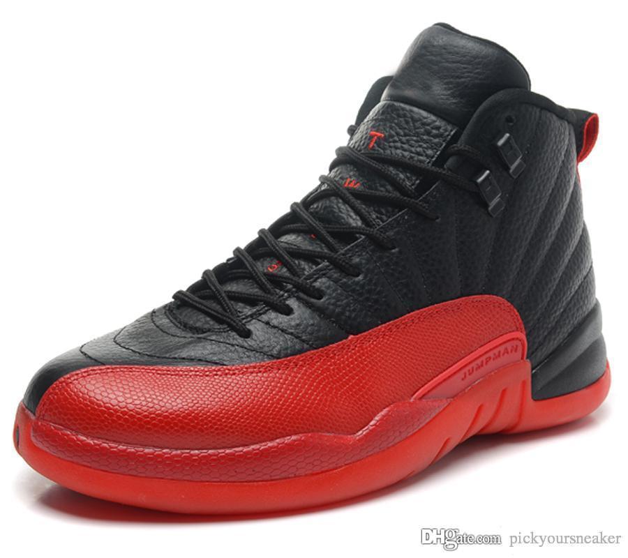 de063a941dba1 2019 12 12S Flu Game Men Basketball Shoes Flu Game Nylon Genuine Leather  Jumpman Trainer Boy Mens Designer Sports Sneakers US 8 13 130690 002 From  ...