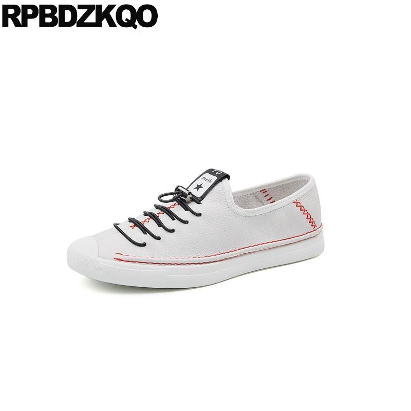 a0304a9baca4b Compre Hombres Italianos Blancos Zapatos Marcas Diseñador Primavera Negro  Skate Comodidad Zapatillas De Deporte De Lujo De La Pista Europea Hechos A  Mano ...