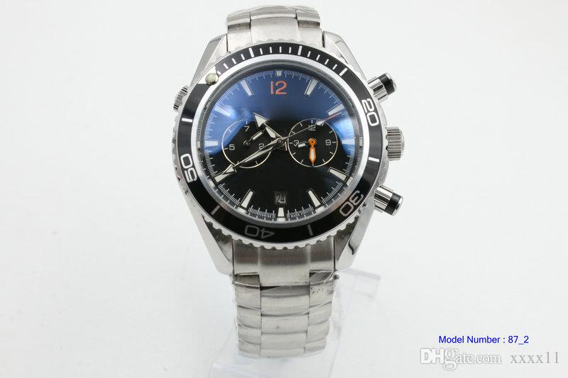 007 New Luxury WATCH Stainless steel strap New Planet Ocean Chronograph Ceramic Bezel 232.30.46.51.01.003 45mm